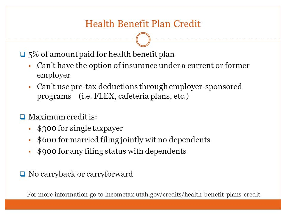 Health Benefit Plan Credit