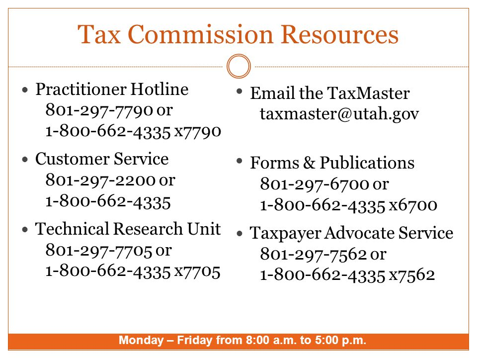 Tax Commission Resources