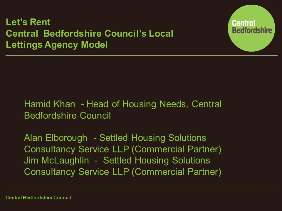 Let's Rent Central Bedfordshire Council's Local Lettings Agency Model