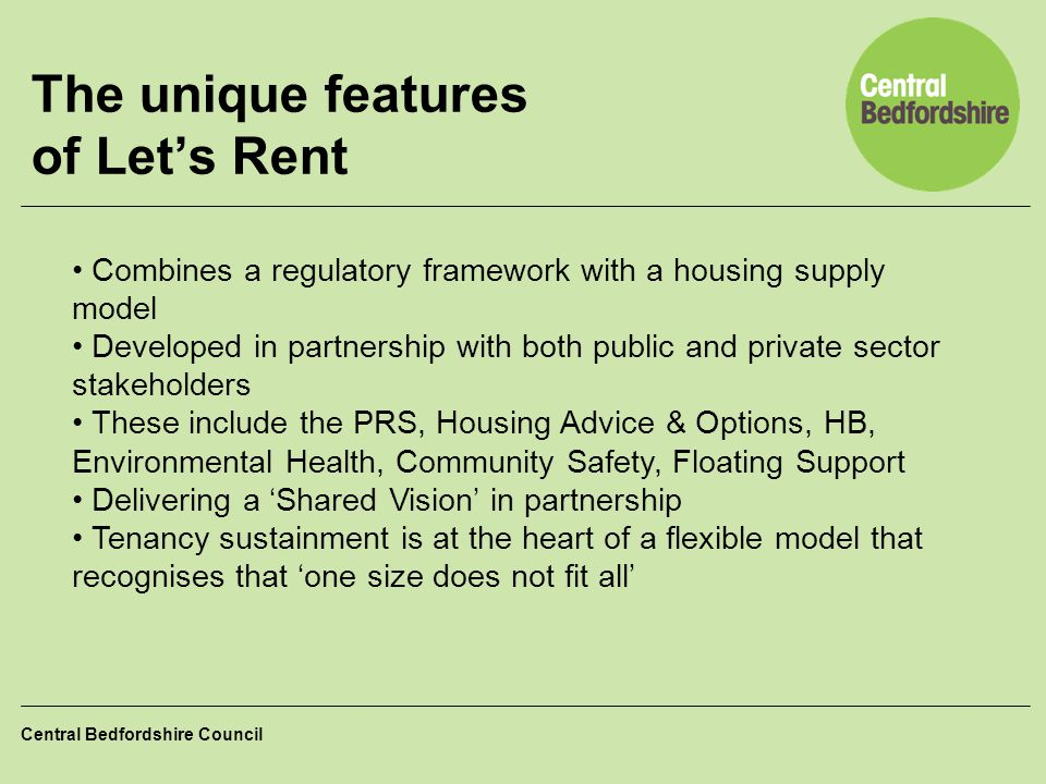 The unique features of Let's Rent