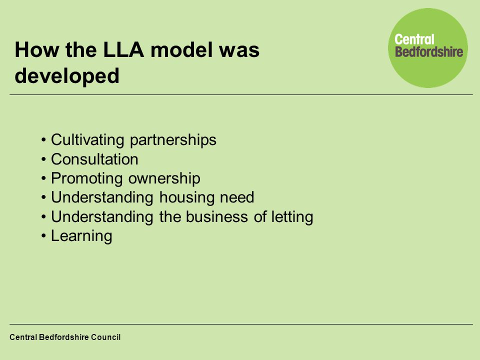 How the LLA model was developed