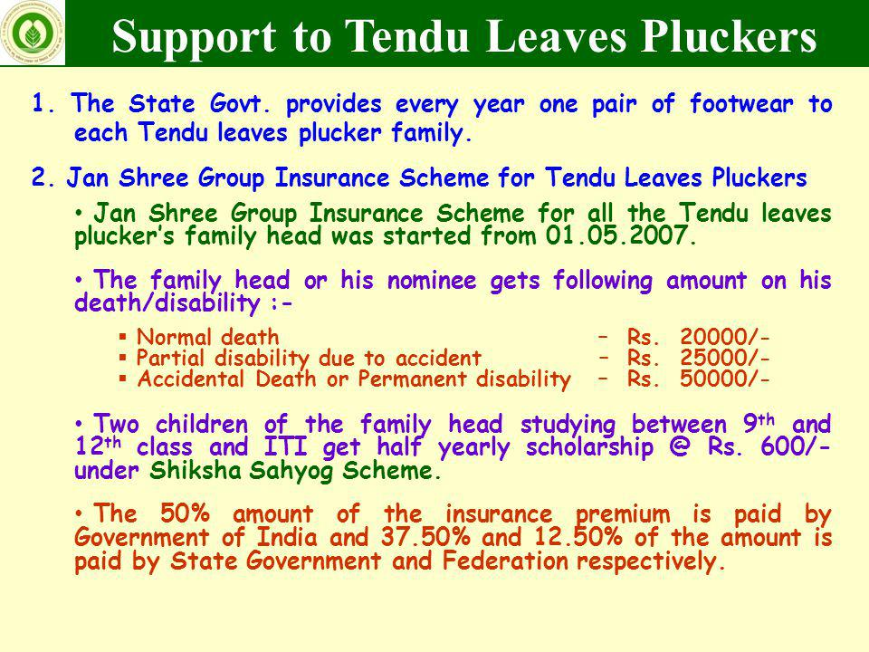Support to Tendu Leaves Pluckers