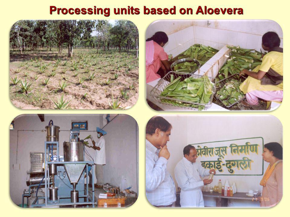 Processing units based on Aloevera