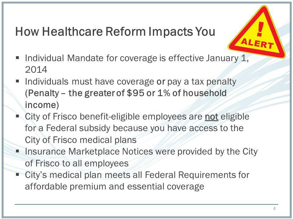 How Healthcare Reform Impacts You