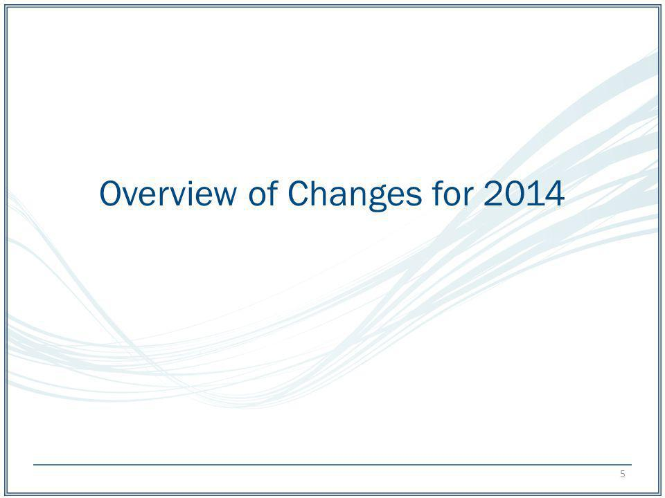 Overview of Changes for 2014