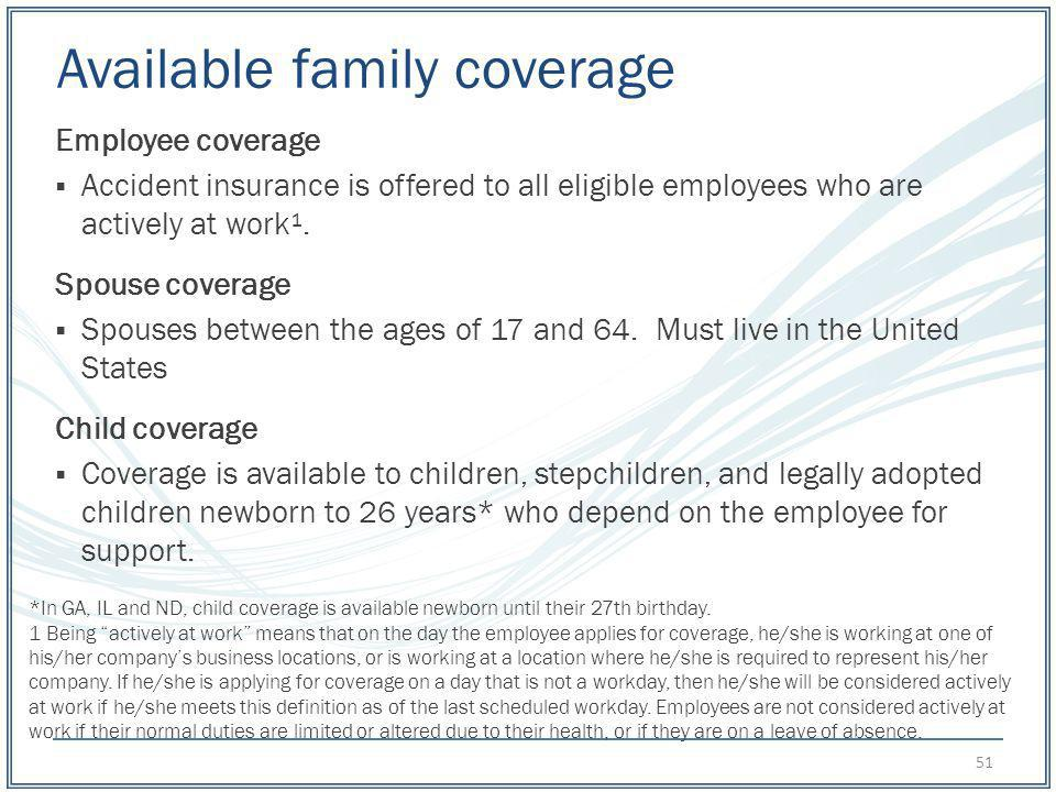 Available family coverage