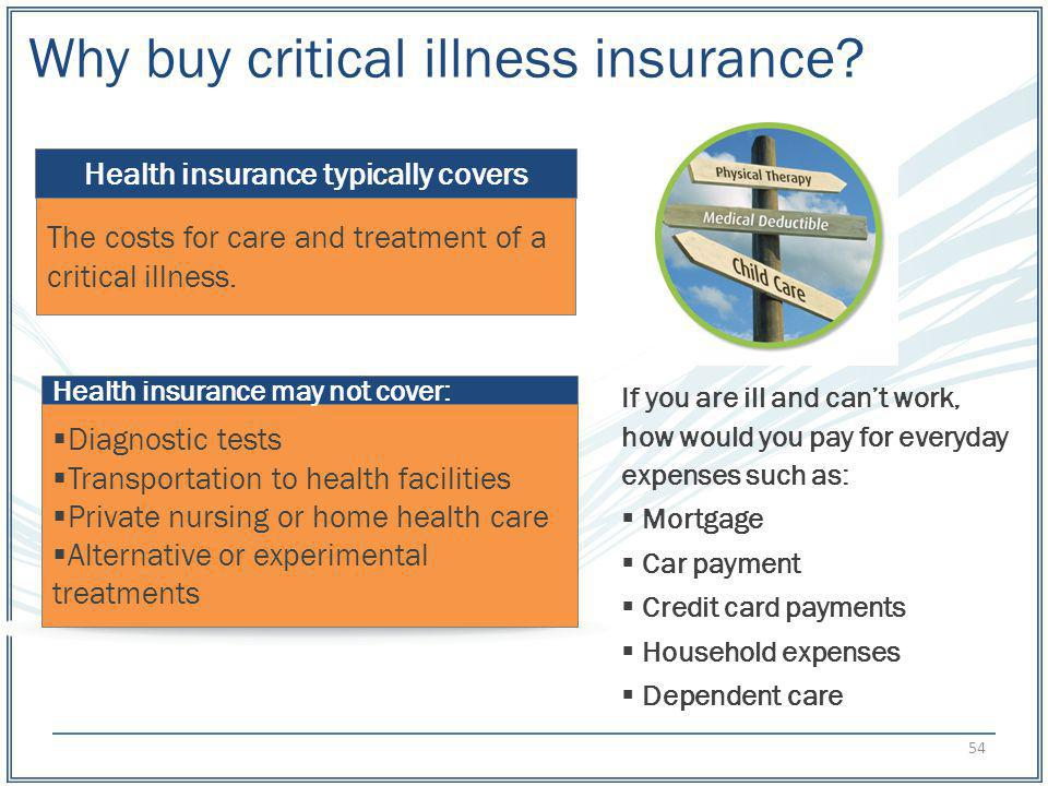 Health insurance typically covers