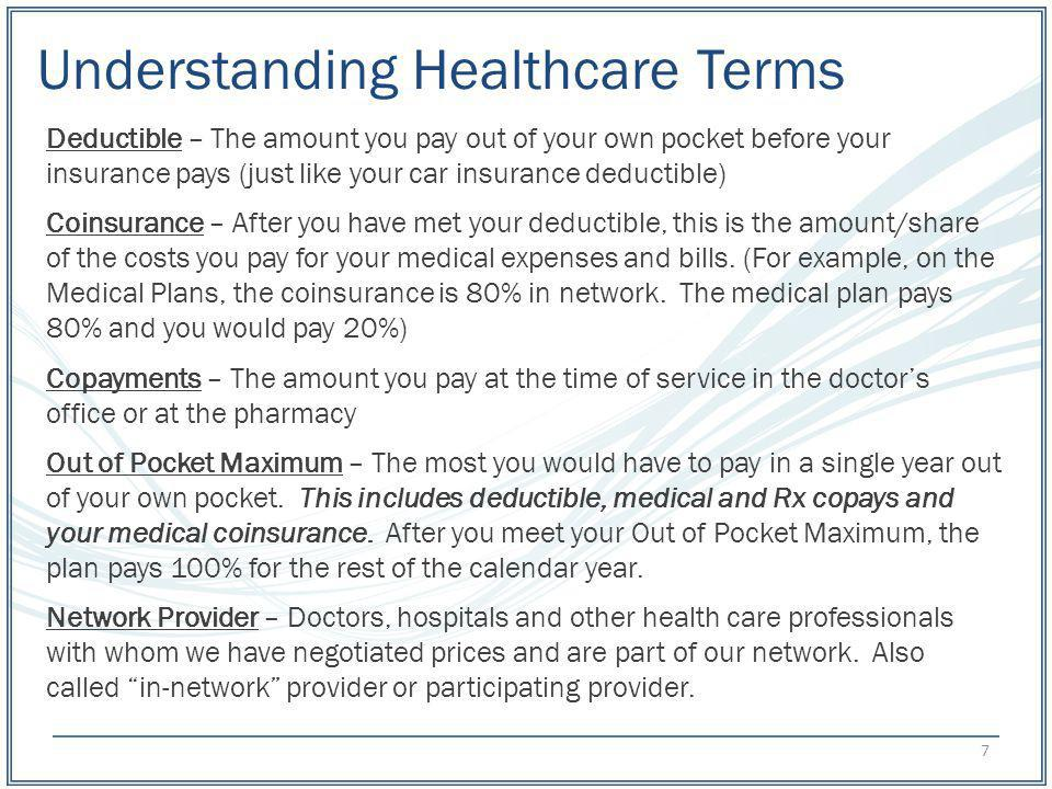 Understanding Healthcare Terms