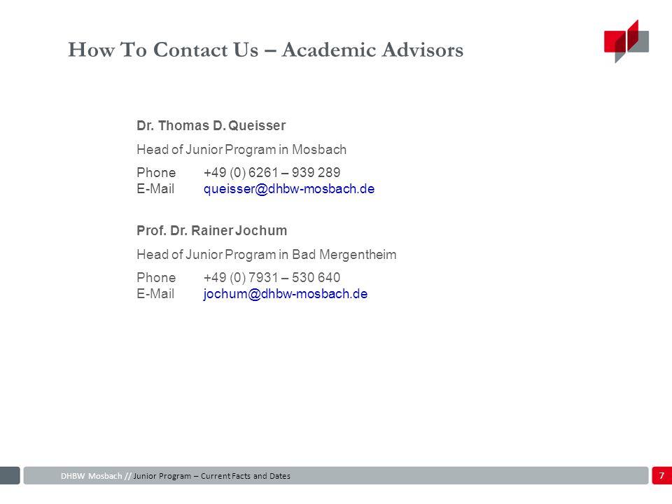 How To Contact Us – Academic Advisors