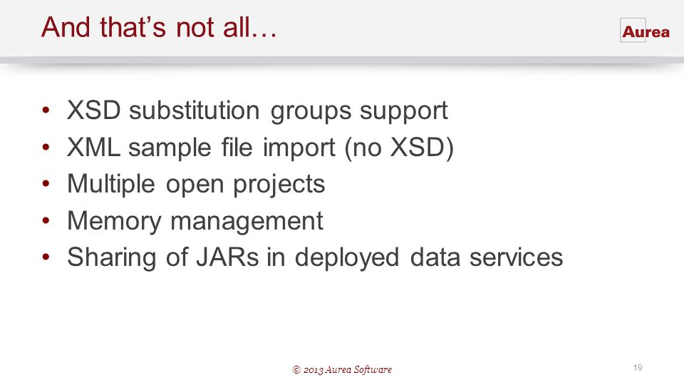 And that's not all… XSD substitution groups support