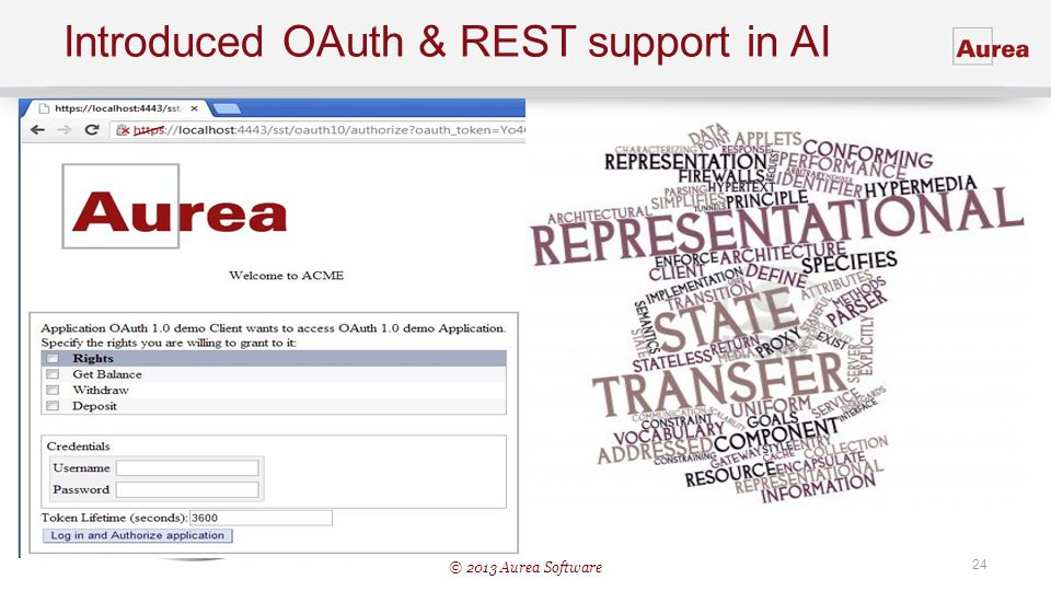 Introduced OAuth & REST support in AI