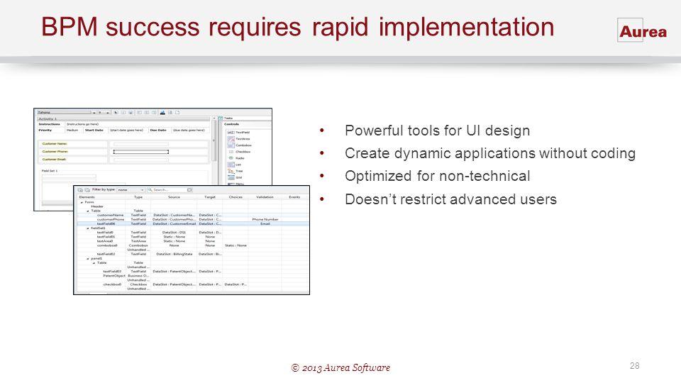 BPM success requires rapid implementation