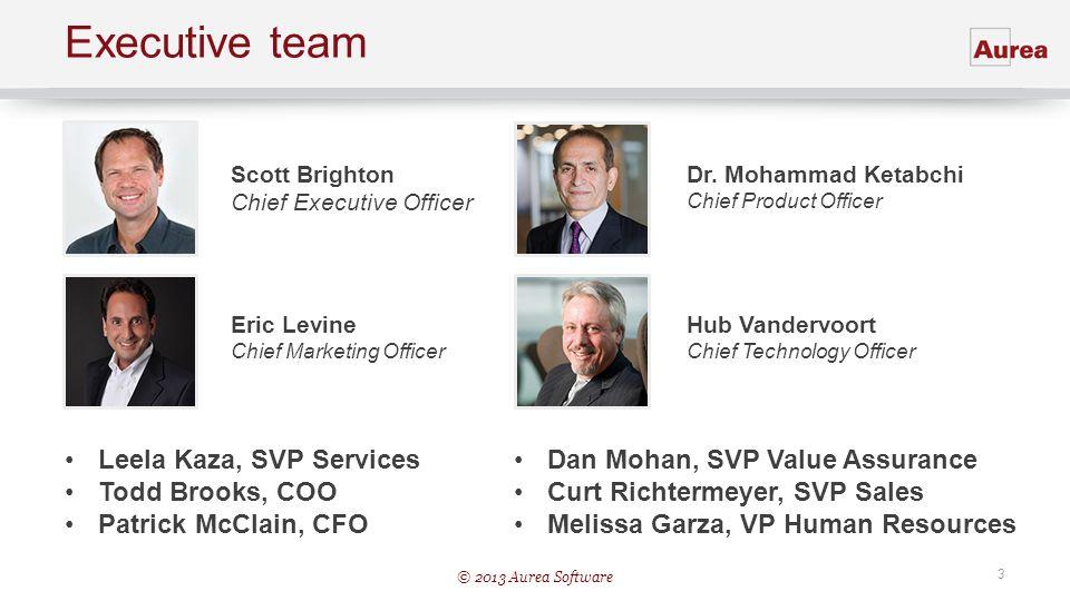 Executive team Leela Kaza, SVP Services Todd Brooks, COO