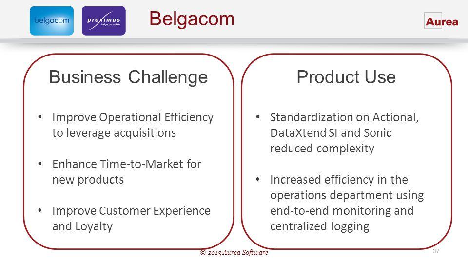 Belgacom Business Challenge Product Use