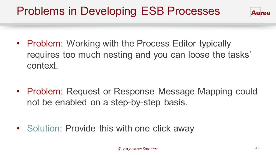 Problems in Developing ESB Processes
