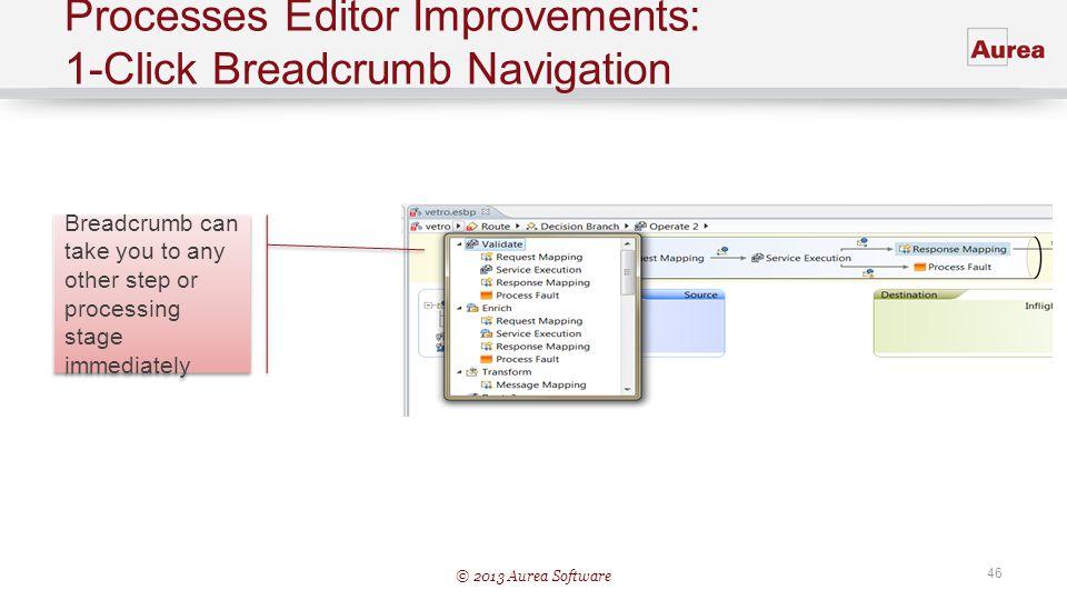 Processes Editor Improvements: 1-Click Breadcrumb Navigation