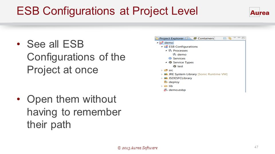 ESB Configurations at Project Level