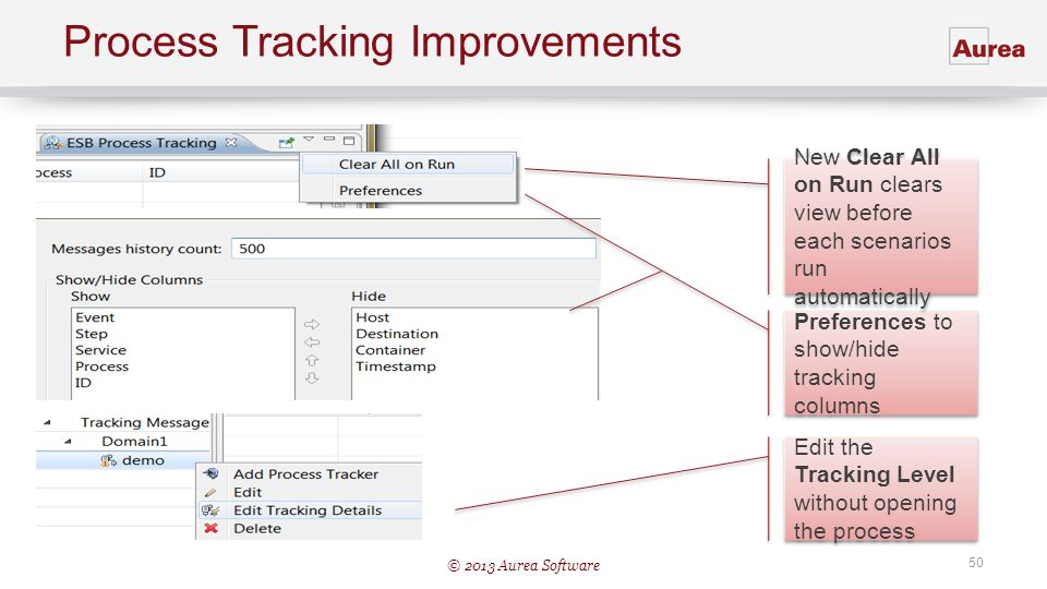 Process Tracking Improvements