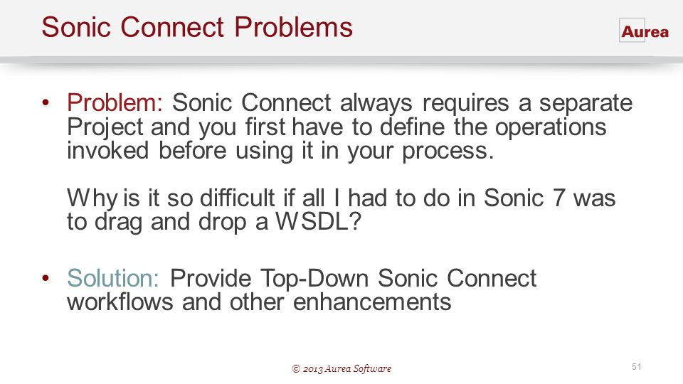 Sonic Connect Problems