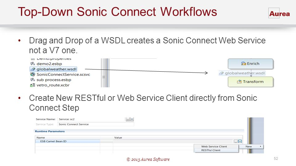 Top-Down Sonic Connect Workflows