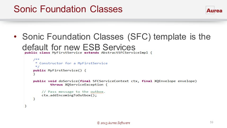 Sonic Foundation Classes