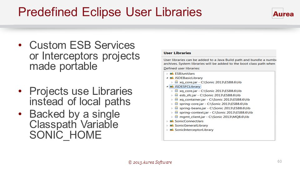 Predefined Eclipse User Libraries
