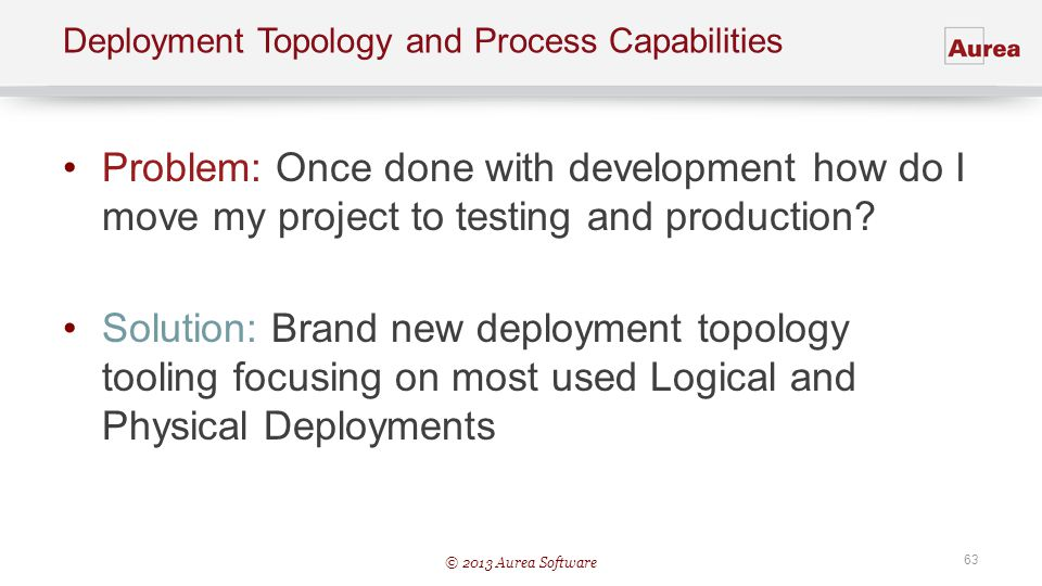 Deployment Topology and Process Capabilities