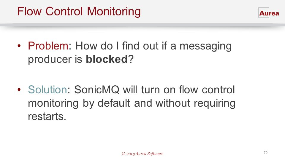 Flow Control Monitoring