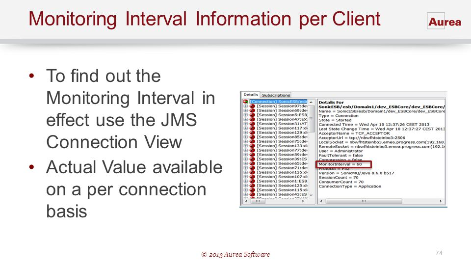 Monitoring Interval Information per Client