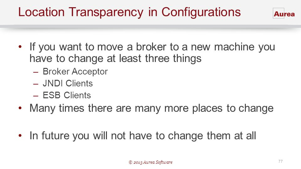 Location Transparency in Configurations