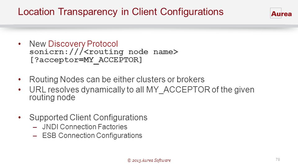 Location Transparency in Client Configurations