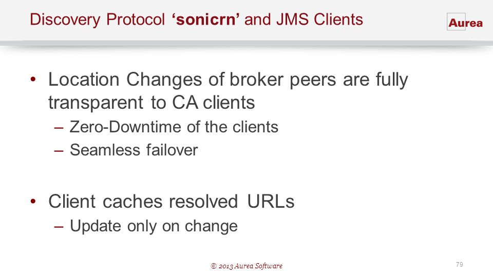 Discovery Protocol 'sonicrn' and JMS Clients