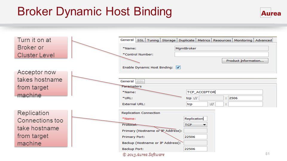Broker Dynamic Host Binding