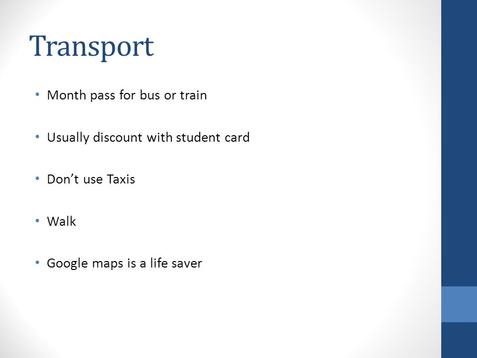 Transport Month pass for bus or train
