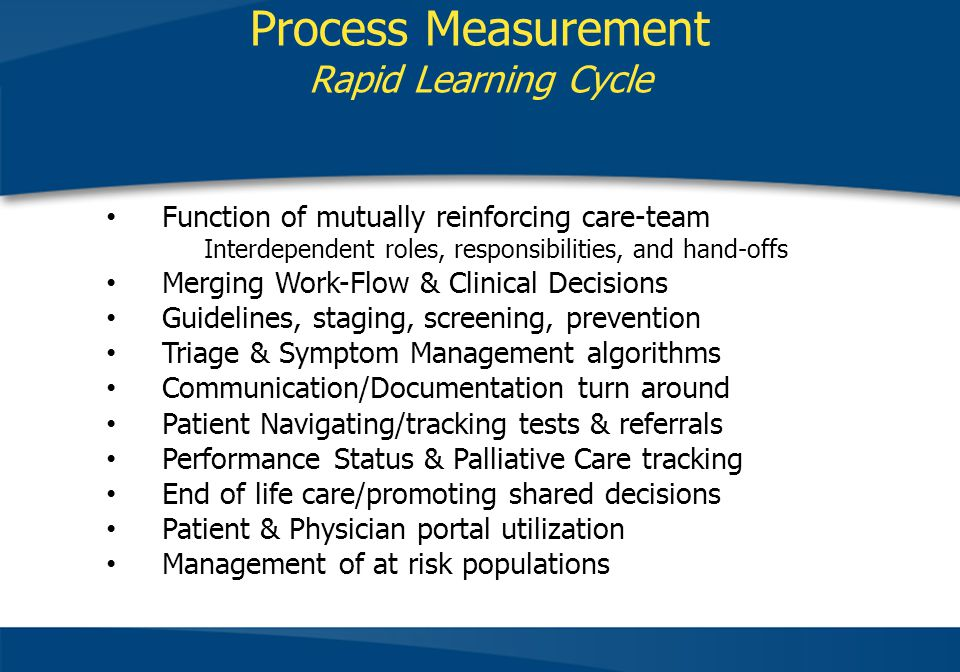 Process Measurement Rapid Learning Cycle