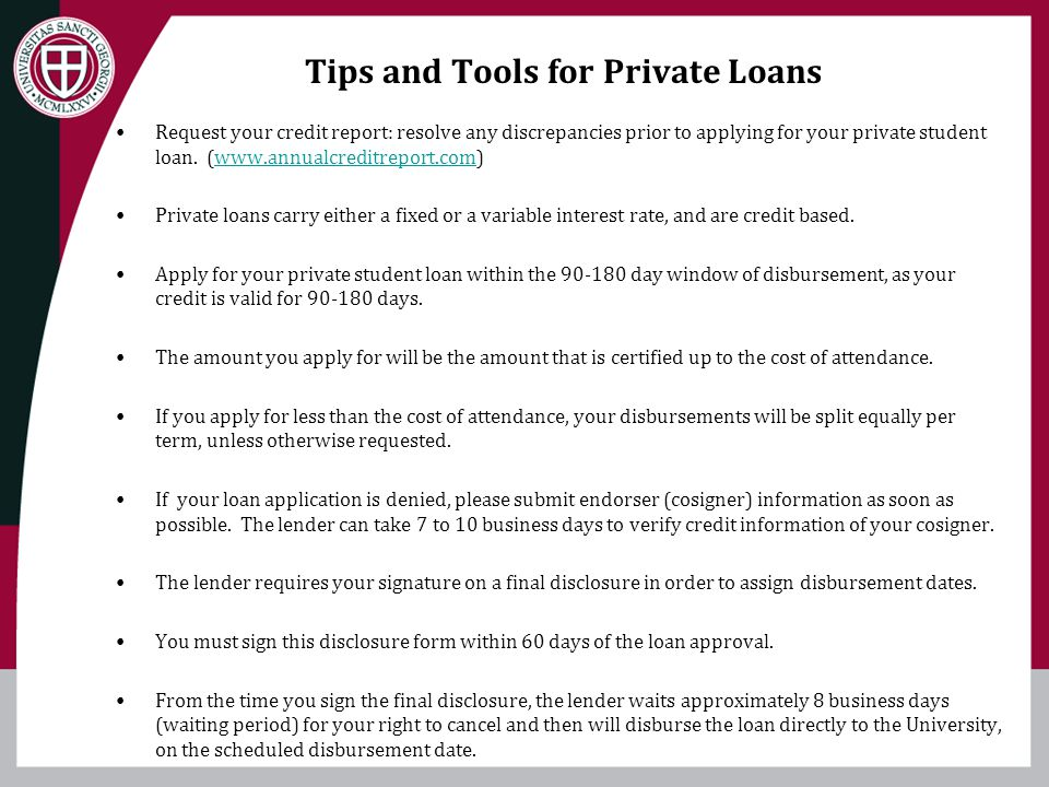 Tips and Tools for Private Loans