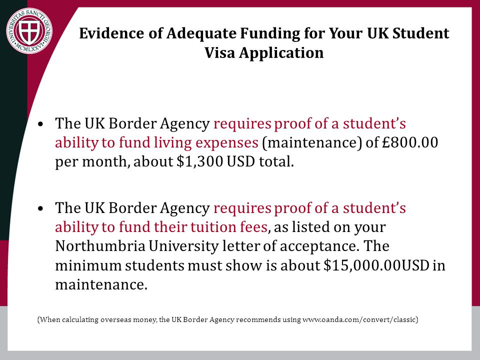 Evidence of Adequate Funding for Your UK Student Visa Application