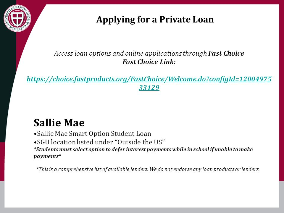 Applying for a Private Loan