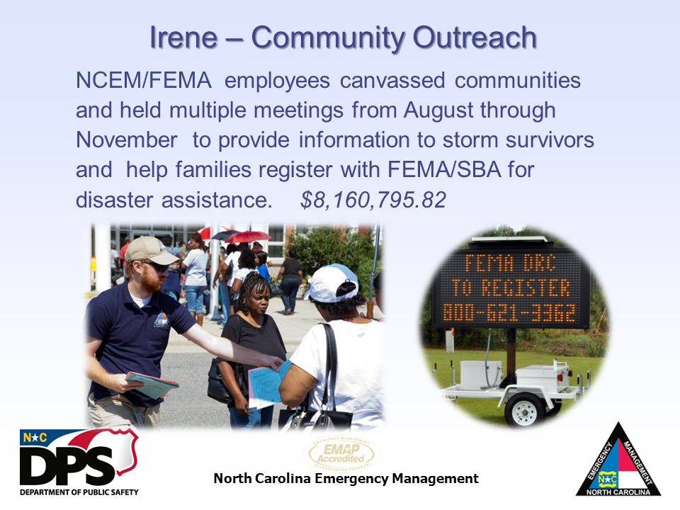 Irene – Community Outreach