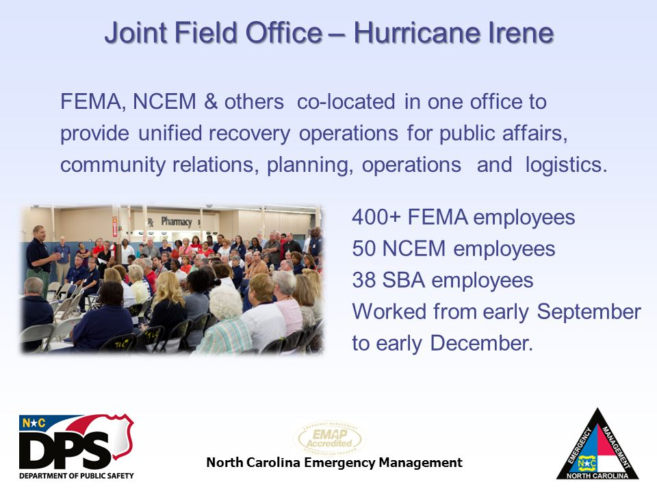Joint Field Office – Hurricane Irene