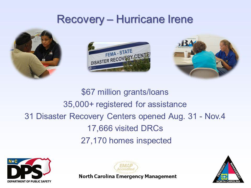 Recovery – Hurricane Irene