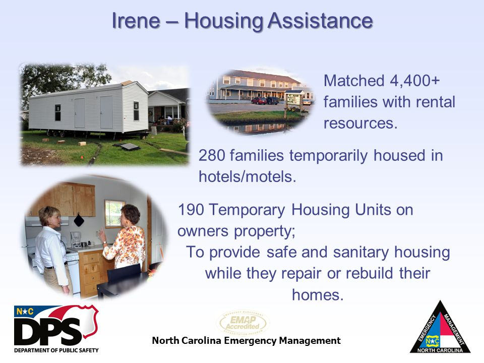 Irene – Housing Assistance