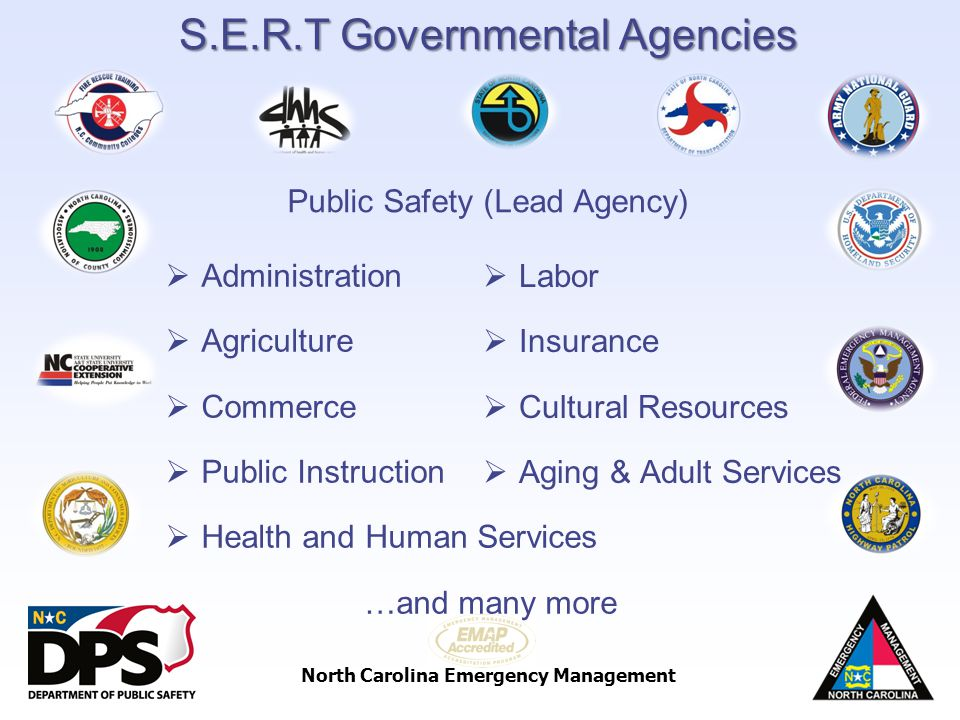 S.E.R.T Governmental Agencies