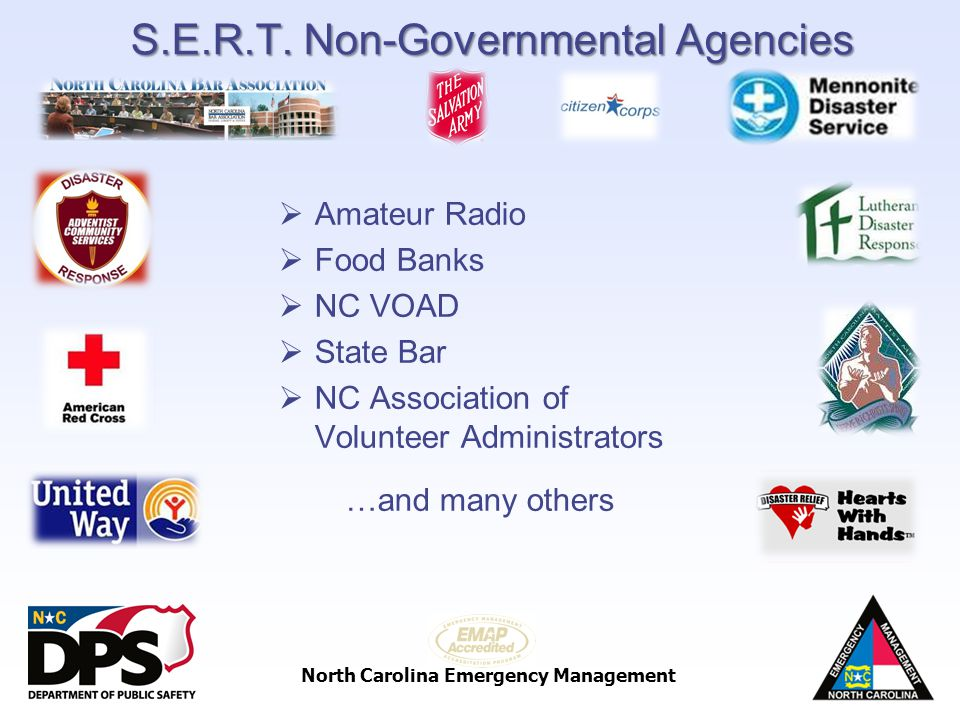 S.E.R.T. Non-Governmental Agencies