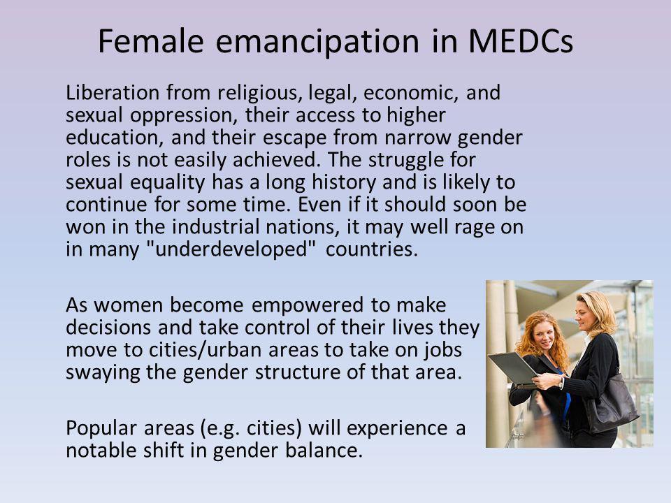 Female emancipation in MEDCs