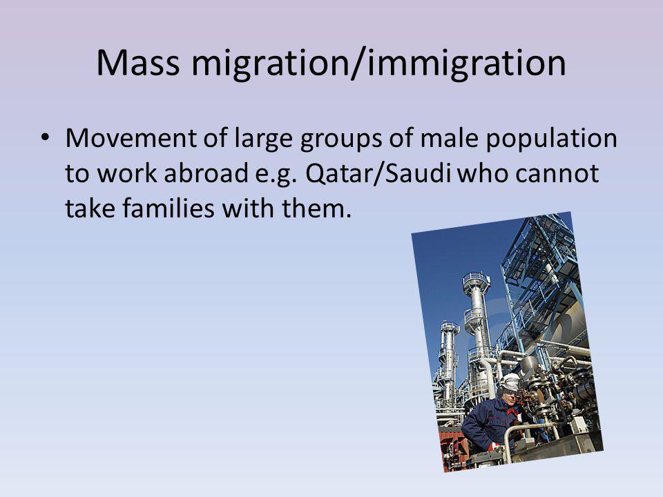 Mass migration/immigration
