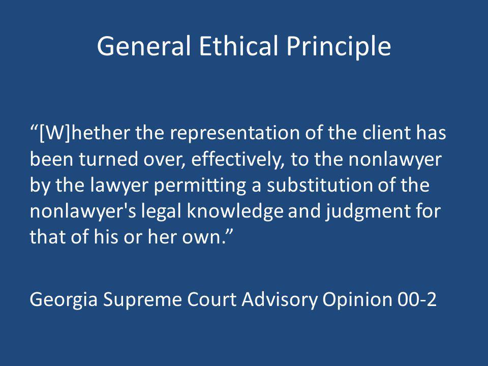 General Ethical Principle