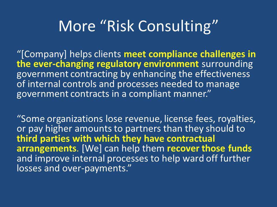 More Risk Consulting
