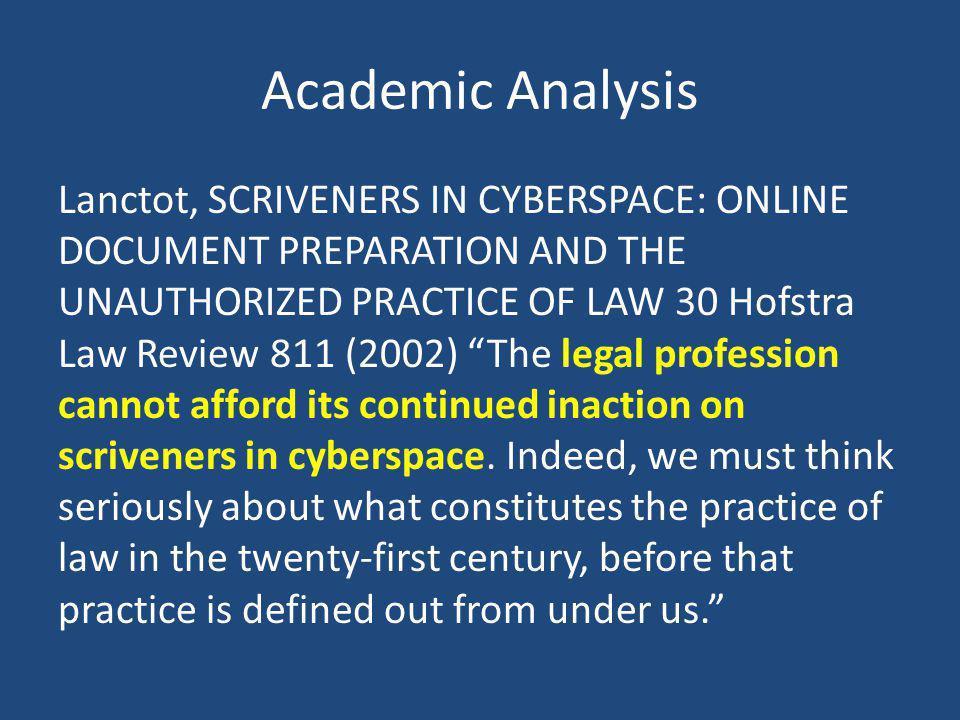 Academic Analysis