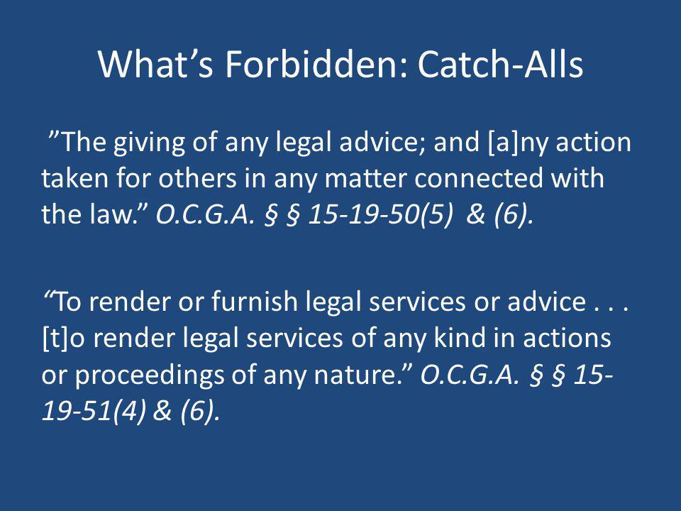 What's Forbidden: Catch-Alls